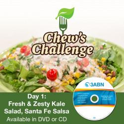 Day 1: Fresh & Zesty Kale Salad, Santa Fe Salsa