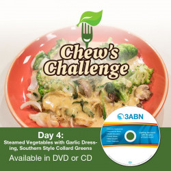 Day 4: Steamed Vegetables with Garlic Dressing, Southern Style Collard Greens