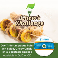 Day 8: Scrumjptious Spinach Salad, Crispy Chicken & Vegetable Kabobs