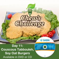 Day 11: Couscous Tabbouleh, Soy Oat Burgers
