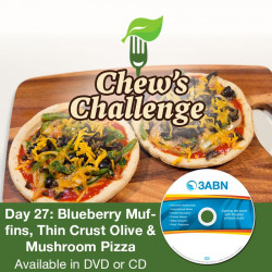 Day 27: Blueberry Muffins, Thin Crust Olive & Mushroom Pizza