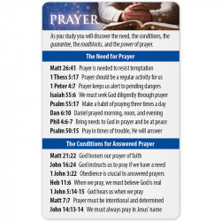Prayer Bible Reference Card...