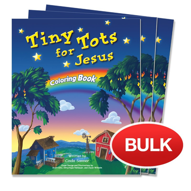 Tiny Tots for Jesus Coloring Book Pack