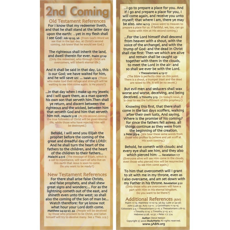 2nd Coming - 3ABN Study Mark Pack