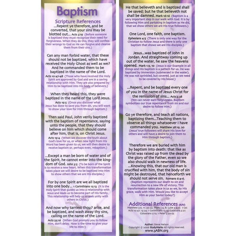 Baptism - 3ABN Study Mark Pack