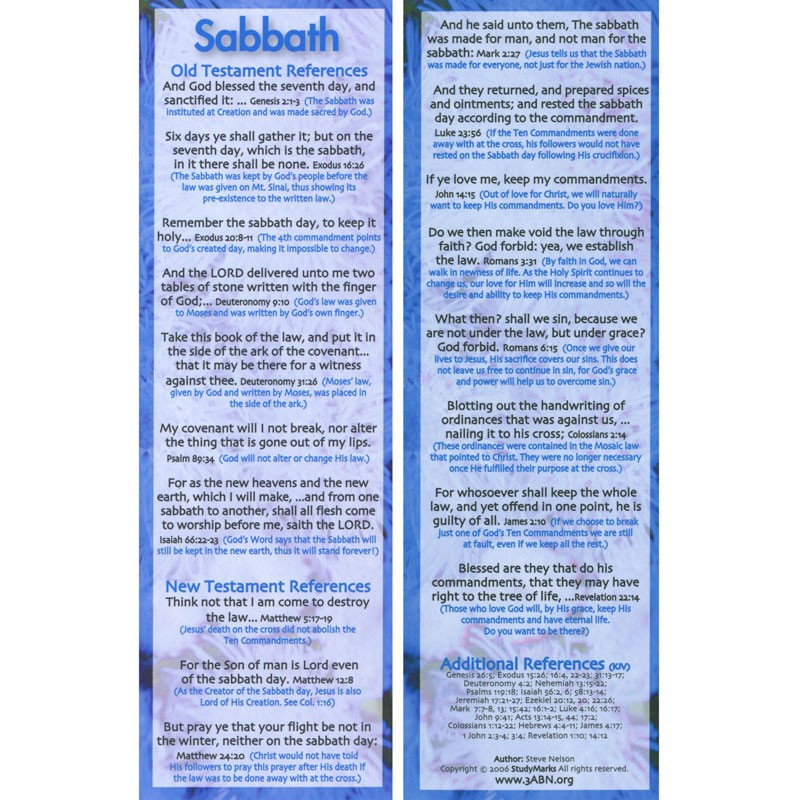 Sabbath - 3ABN Study Mark Pack