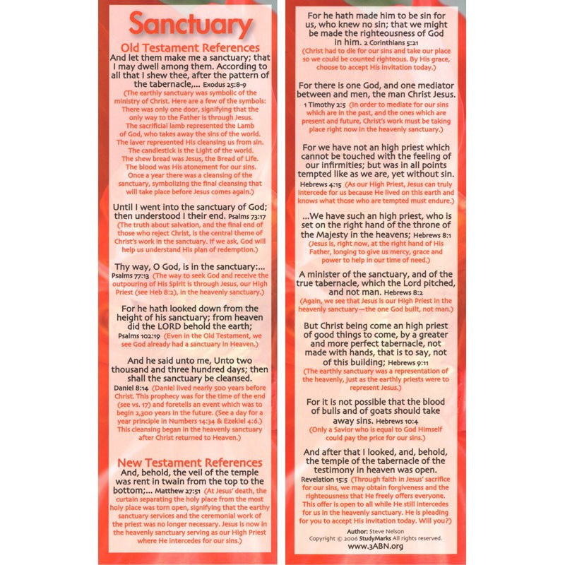 Sanctuary - 3ABN Study Mark Pack