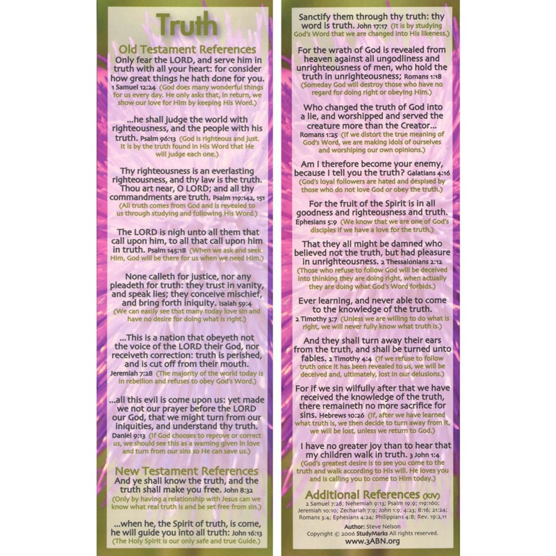 Truth - 3ABN Study Mark Pack
