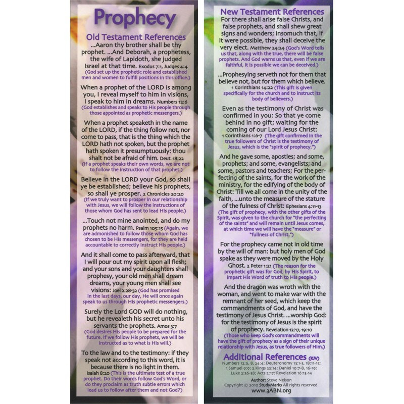 Prophecy - 3ABN Study Mark Pack